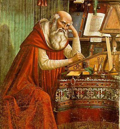 Saint Jerome en su estudio Domenico Ghirlandaio